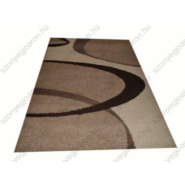 Barátságos Drapp-Barna Shaggy szőnyeg 160 x 220 cm