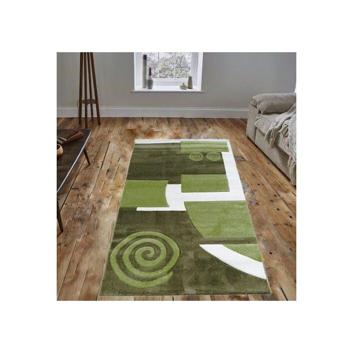 Debora Nyírt Zöld Dombor szőnyeg 125 x 200 cm