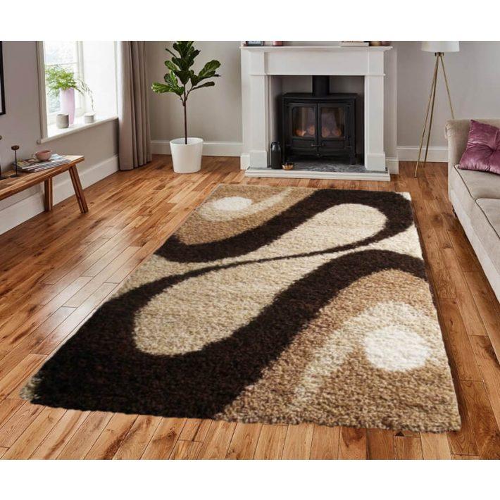 Kellemes Arany Bézs shaggy szőnyeg 125x200cm
