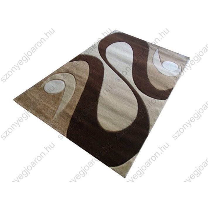 Bonn Nyírt Barna Krém szőnyeg 70 x 100 cm