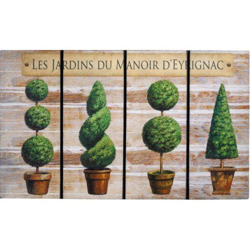Börzsöny Erős gumi lábtörlő zöld növényes 45 x 75 cm