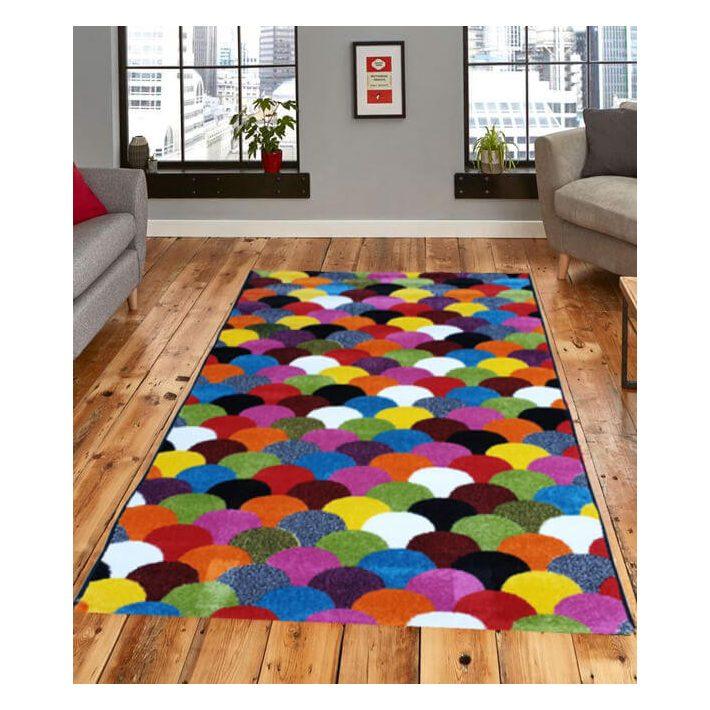 Sten Nyírt Fekete színes szőnyeg 200 x 300 cm