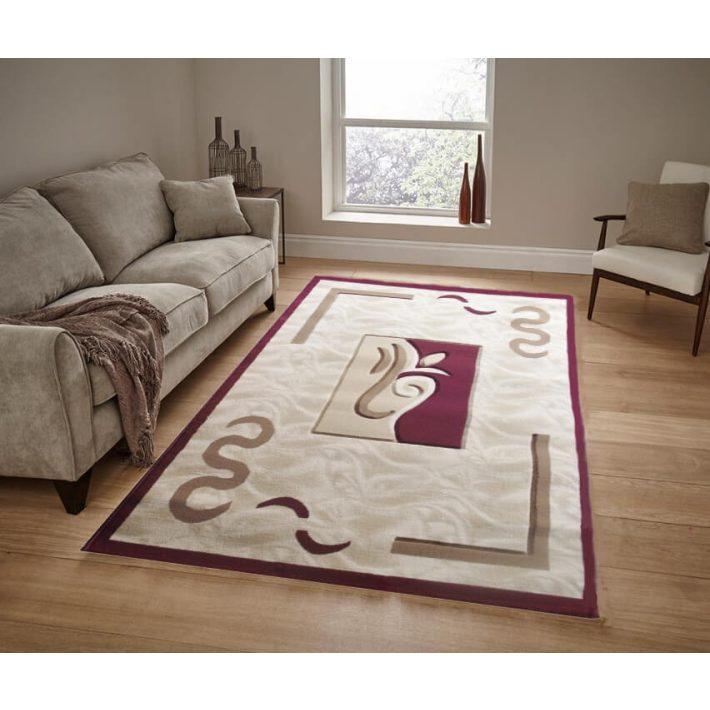 Norma krém bordó szőnyeg 200 x 300 cm