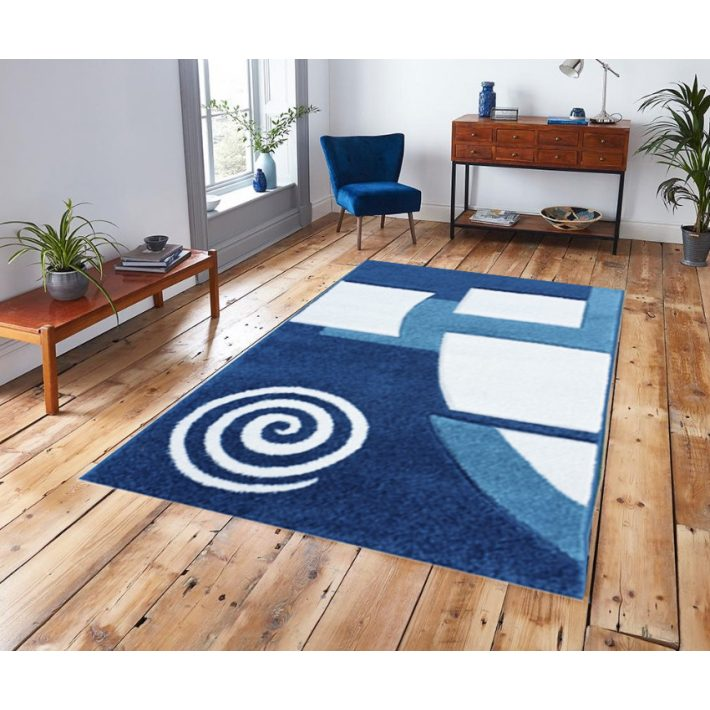 Sessa Nyírt kék vastag szőnyeg 80x150cm