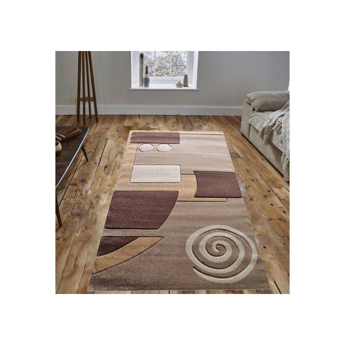 Chars csigás barna drapp szőnyeg 80x150cm