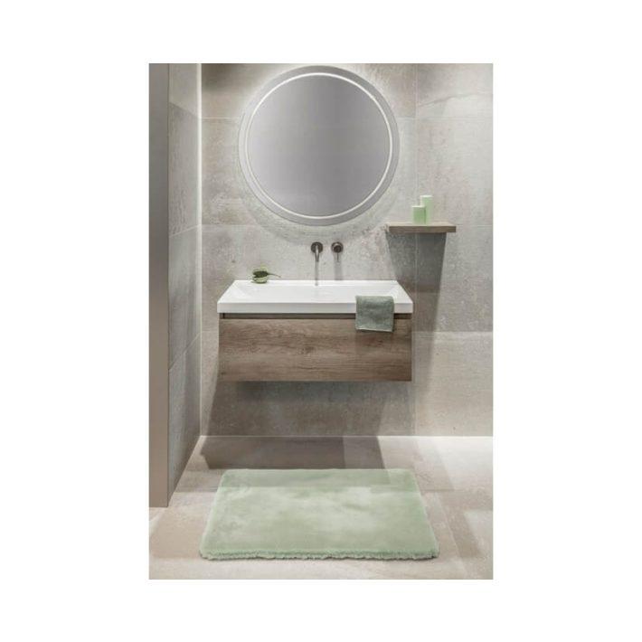 Mentha prémium fürdőszoba Szőnyeg kellemes zöld színben