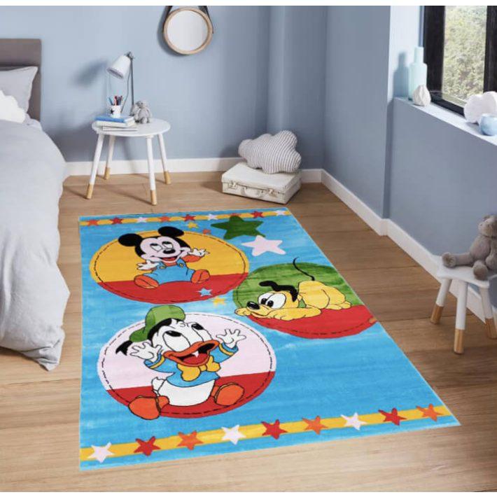 Poppins Donald Plútó Mickey Disney Gyerekszőnyeg Kék