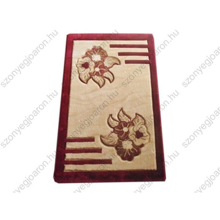 Finom elegancia bézs bordó nyírt szőnyeg
