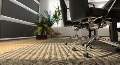 Barna irodai padlószőnyeg, minőségi választás