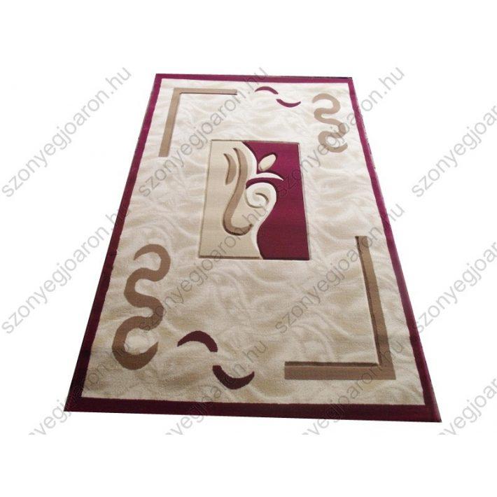 Gyönyörű bordó krém szőnyeg csupa előnnyel