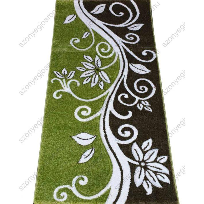 A pihentető zöld indamintás nyírtszőnyeg